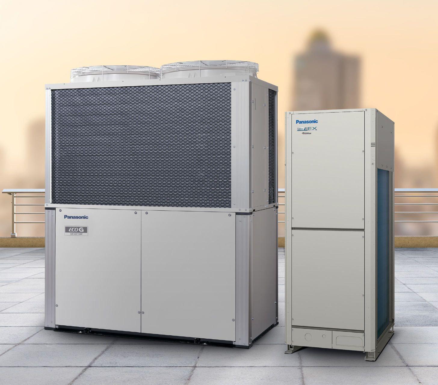 Das Panasonic Vrf Hybrid System Luftung Elektrisch Und Technik