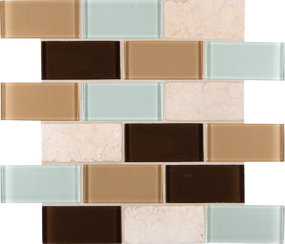 glass-stone-blend-designs-desert-mirage-subway | mudroom | Pinterest