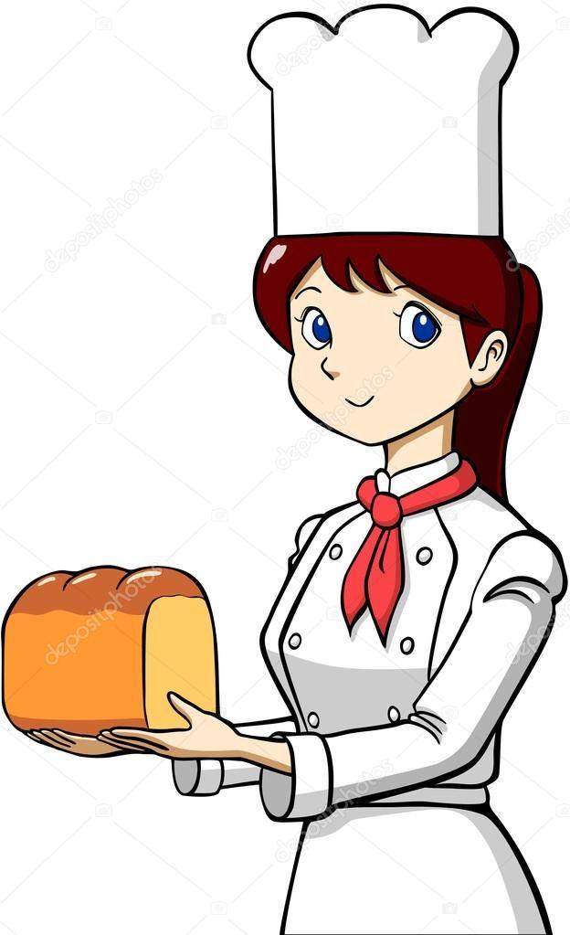 Descargar libre de regalías Esta es la ilustración del panadero ...