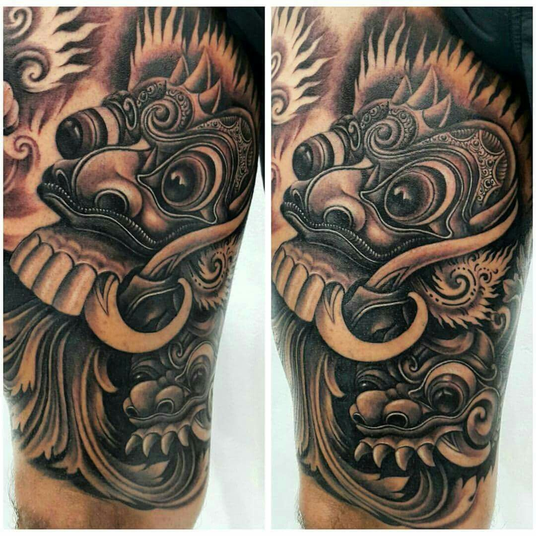 Rangda Mask Tattoo