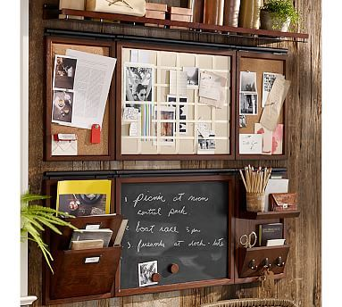 Build Your Own Daily System Components Rustic Mahogany Stain Potterybarn Organized Home Officesoffice