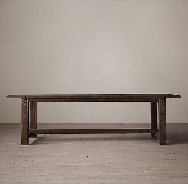 Reclaimed Wood Zinc Strap Rectangular Dining Table The Commons