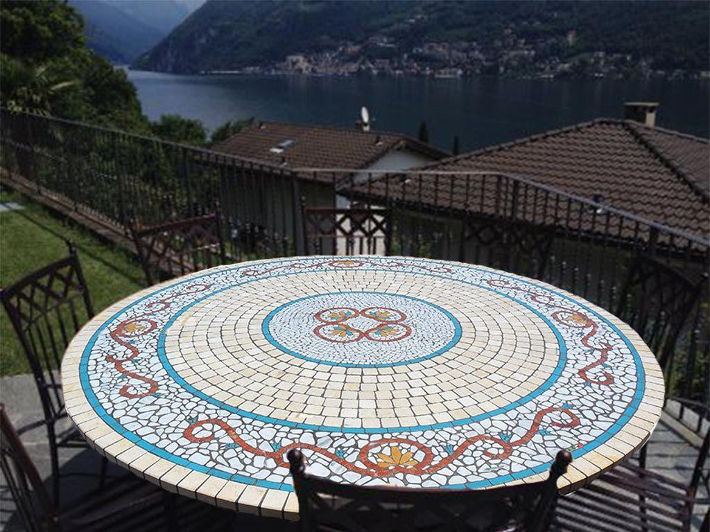 Tavolo Mosaico ~ Tavolo in mosaico finest tavolo rotondo in mosaico with tavolo in