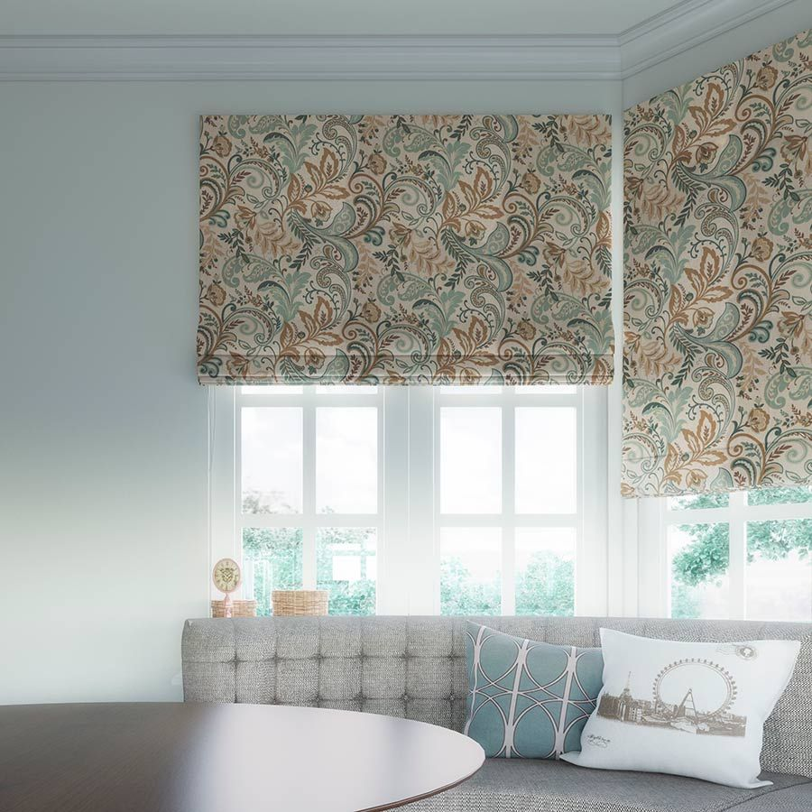 Prints and floral light filtering roman shades from selectblinds