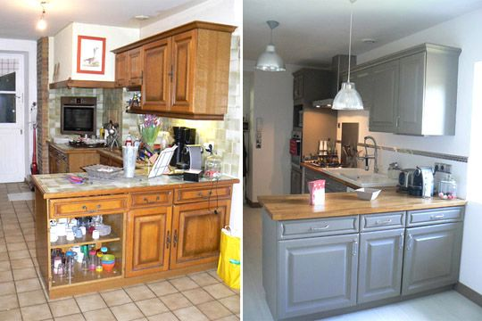 relooking Kitchens, Chalk paint projects and Kitchen redo - Repeindre Un Meuble En Chene