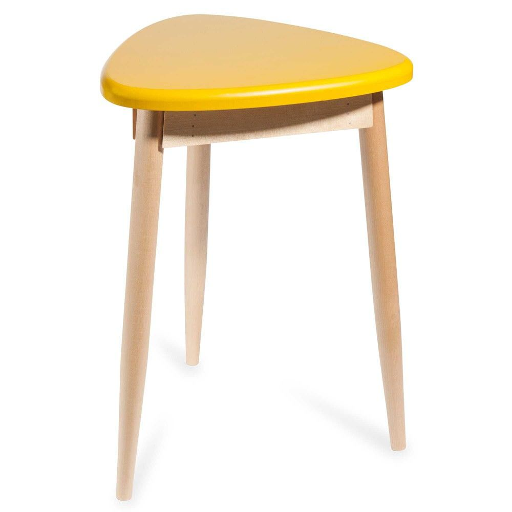 simple tabouret jaune penny with maison du monde tabouret. Black Bedroom Furniture Sets. Home Design Ideas