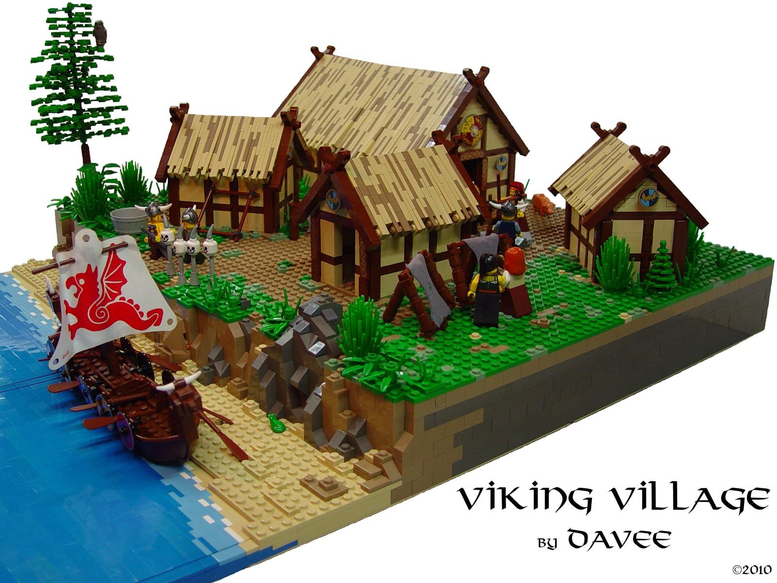 A Viking Village Custom Lego Creations Lego Lego House Lego Castle