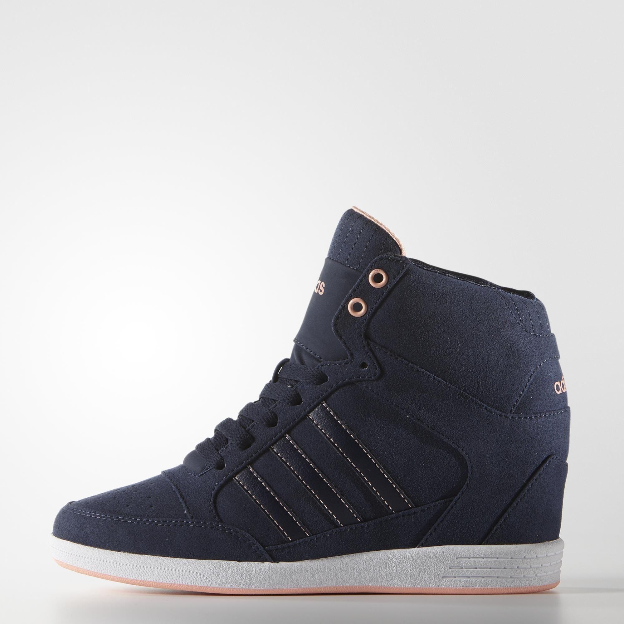 huge discount b3db1 b6792 adidas NEO Super High-Top Wedge Sneaker - Womens   Kicks   Shoes, Sneakers,  High top wedge sneakers