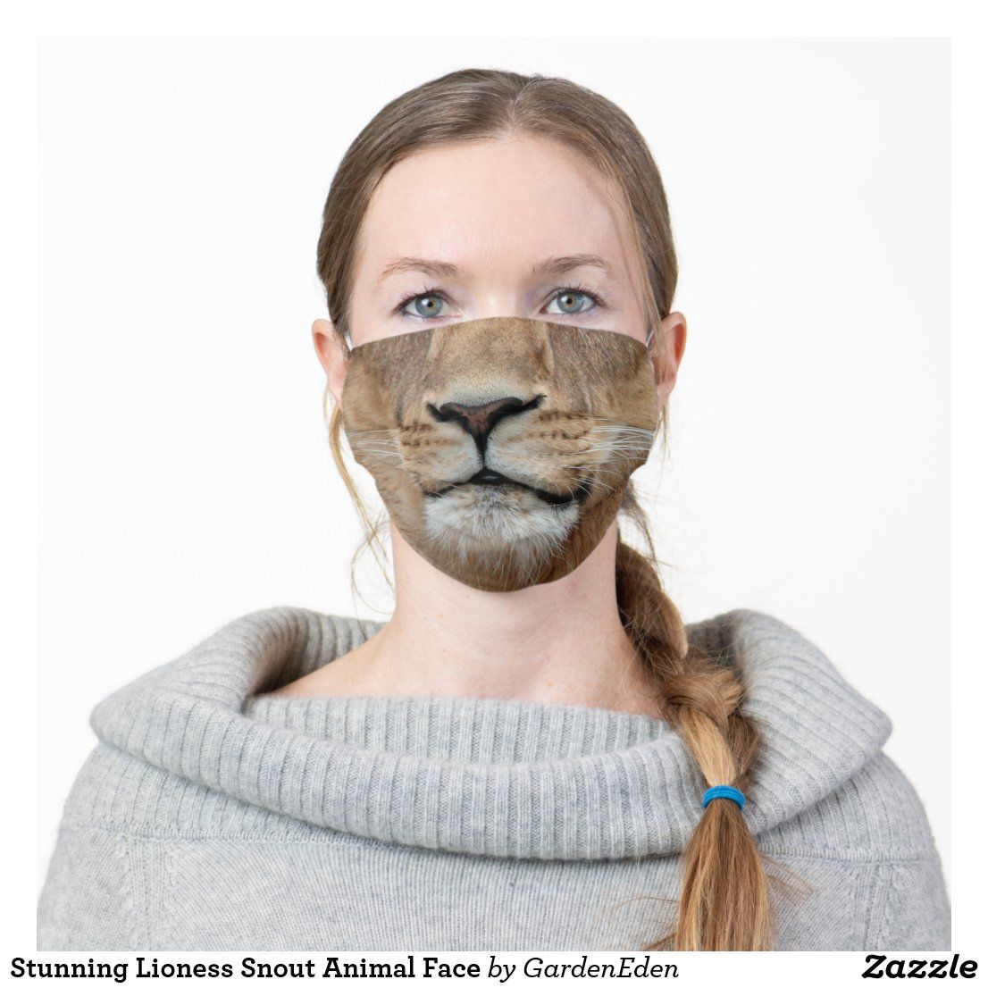 Stunning Lioness Snout Animal Face Cloth Face Mask