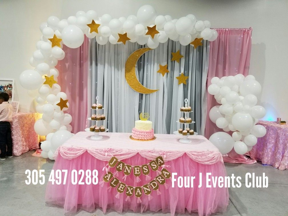 Moon Baby Shower Decorations Indoor Party Rental Venues For Rent Www Fourjeventsclub Com Fourje Moon Baby Shower Moana Decorations Baby Shower Decorations