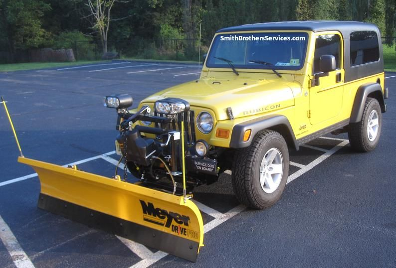 2006 jeep wrangler rubicon with meyer drive pro 6 39 8 plow meyer snow plow installs. Black Bedroom Furniture Sets. Home Design Ideas