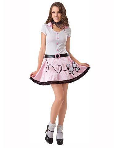 8096a47d0769 50 s Poodle Girl Adult Womens Costume