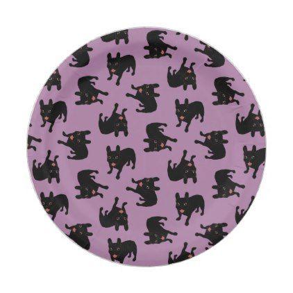 Cute all black brindle French Bulldog puppy Paper Plate   bulldog ...