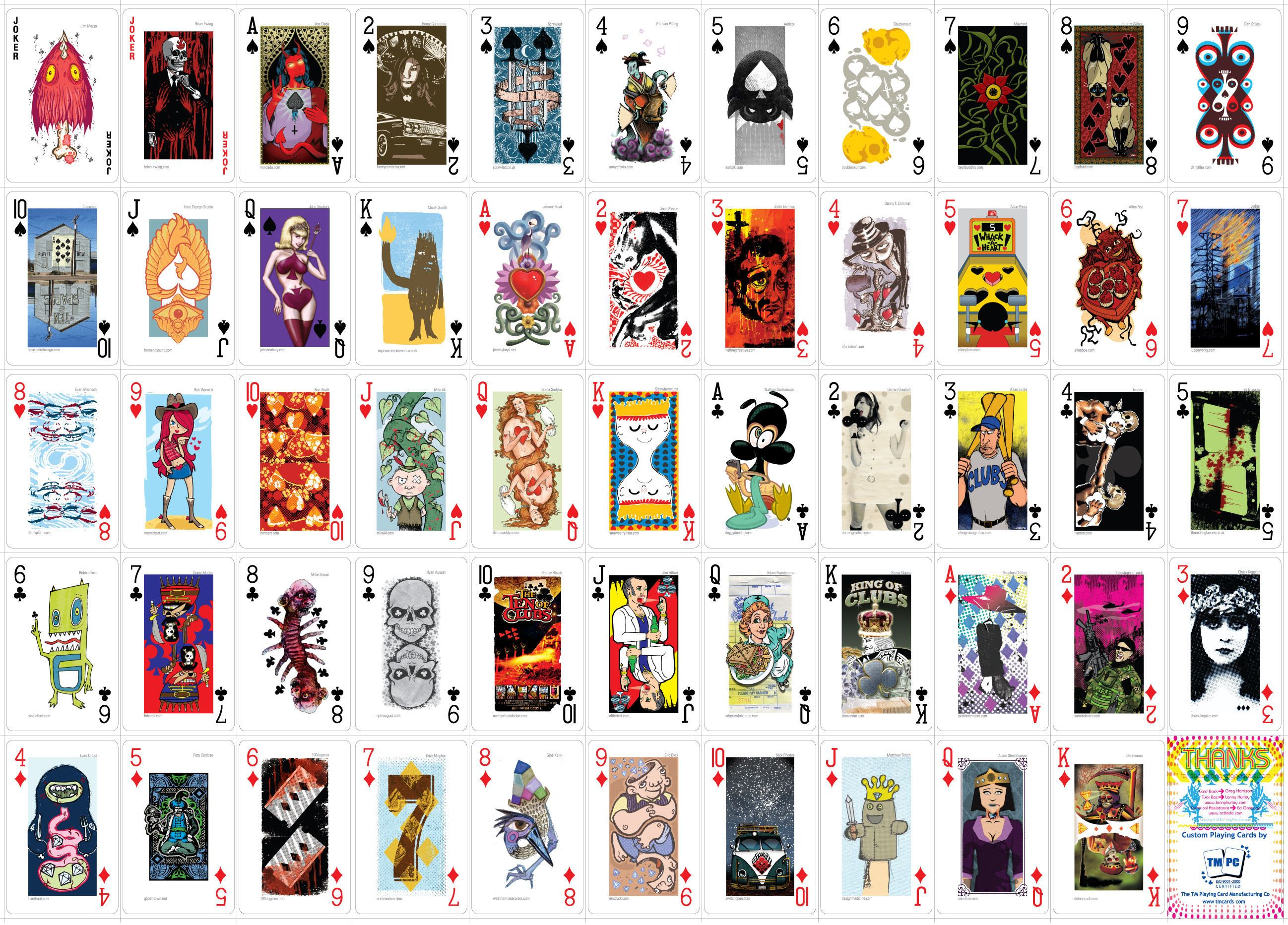 Gig Posters Playing Cards Set 3 Card Design Gig Posters