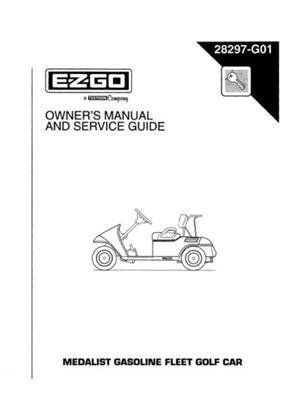 ezgo 28297g01 1996 owners manual and service guide for gas medalist rh pinterest com 1996 ezgo txt owners manual 1996 ezgo txt owners manual