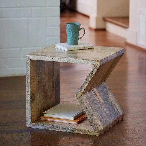 Multi-Function Mango Wood Storage Cube & Accent Table   VivaTerra