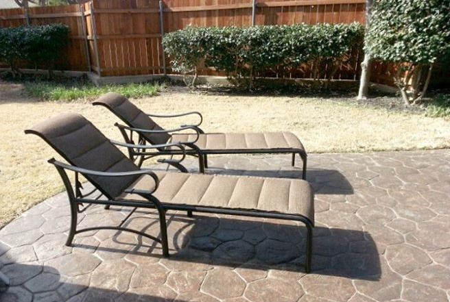 Mallin Passage Padded Chaise Lounge Chairs Patio Furniture