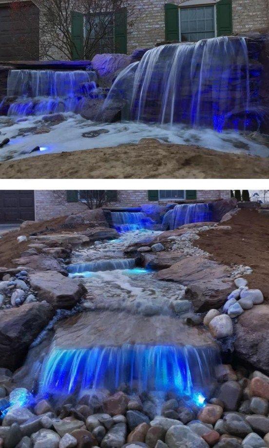 Garden Pond Waterfall Design Ideas