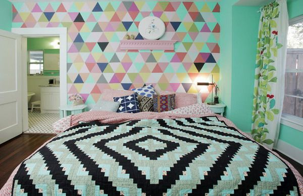 Teenage Bedroom Wall Designs feature wall ideas for teenage bedroom | bedroom and living room