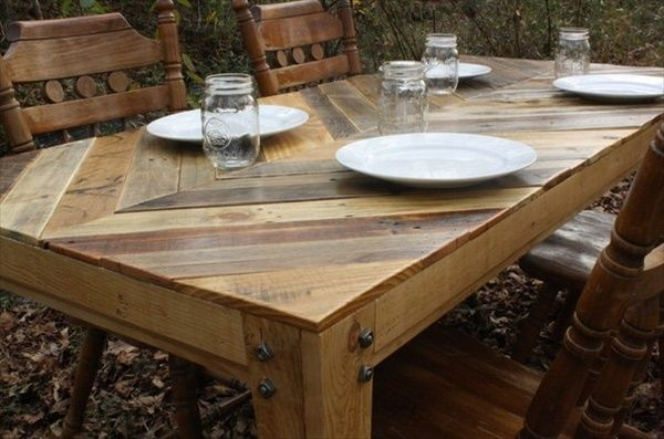 Recycled pallet table the recycled pallet dining table 16 perfect neat gathering table made with recycled pallets watchthetrailerfo