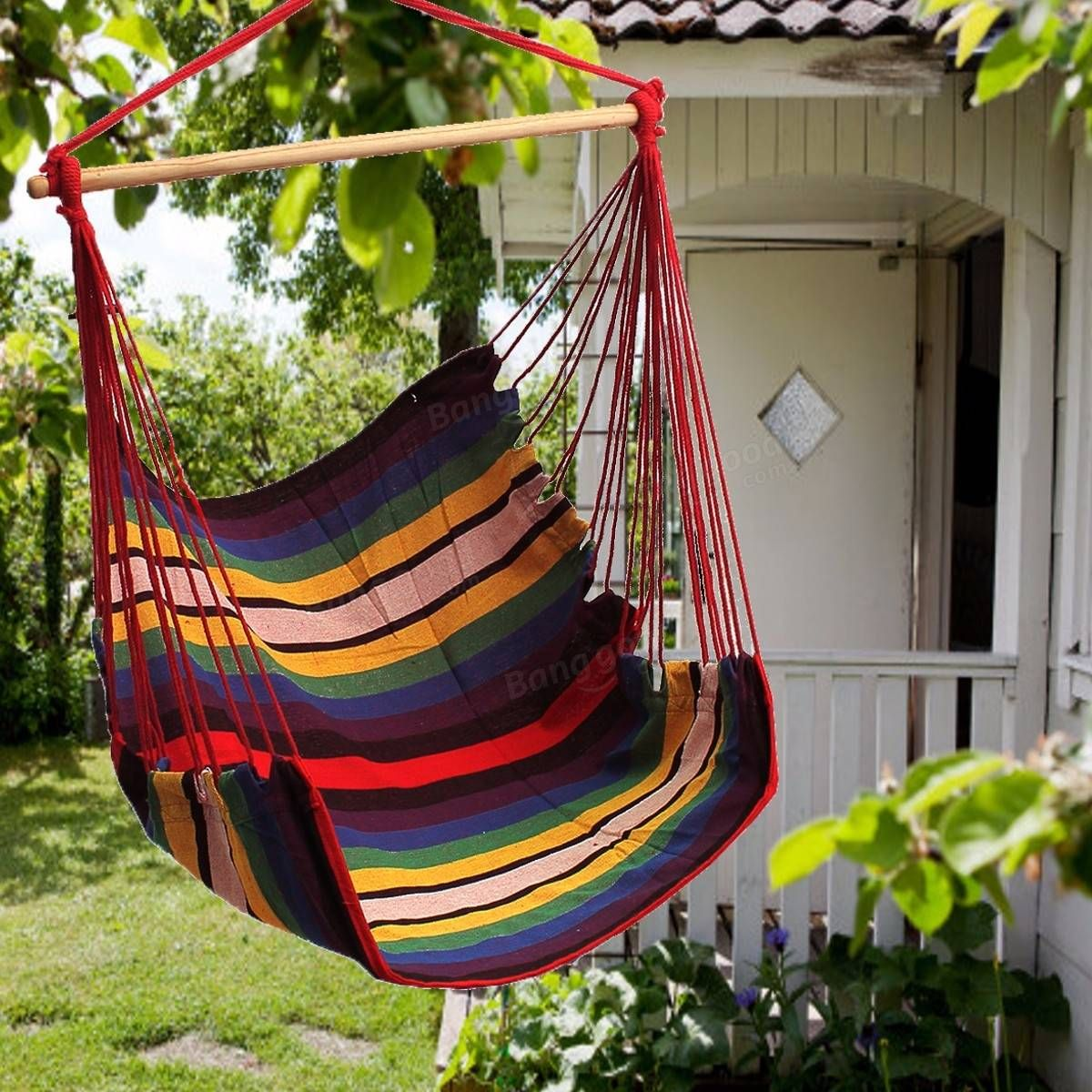 Mattresses why not hanging on the balcony garden compact seating - Garden Patio Hanging Thicken Hammock Chair Indoor Outdoor Cotton Swing Cushion Seat