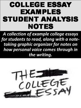 College Essay Examples Student Analysis Notes  Essay Examples