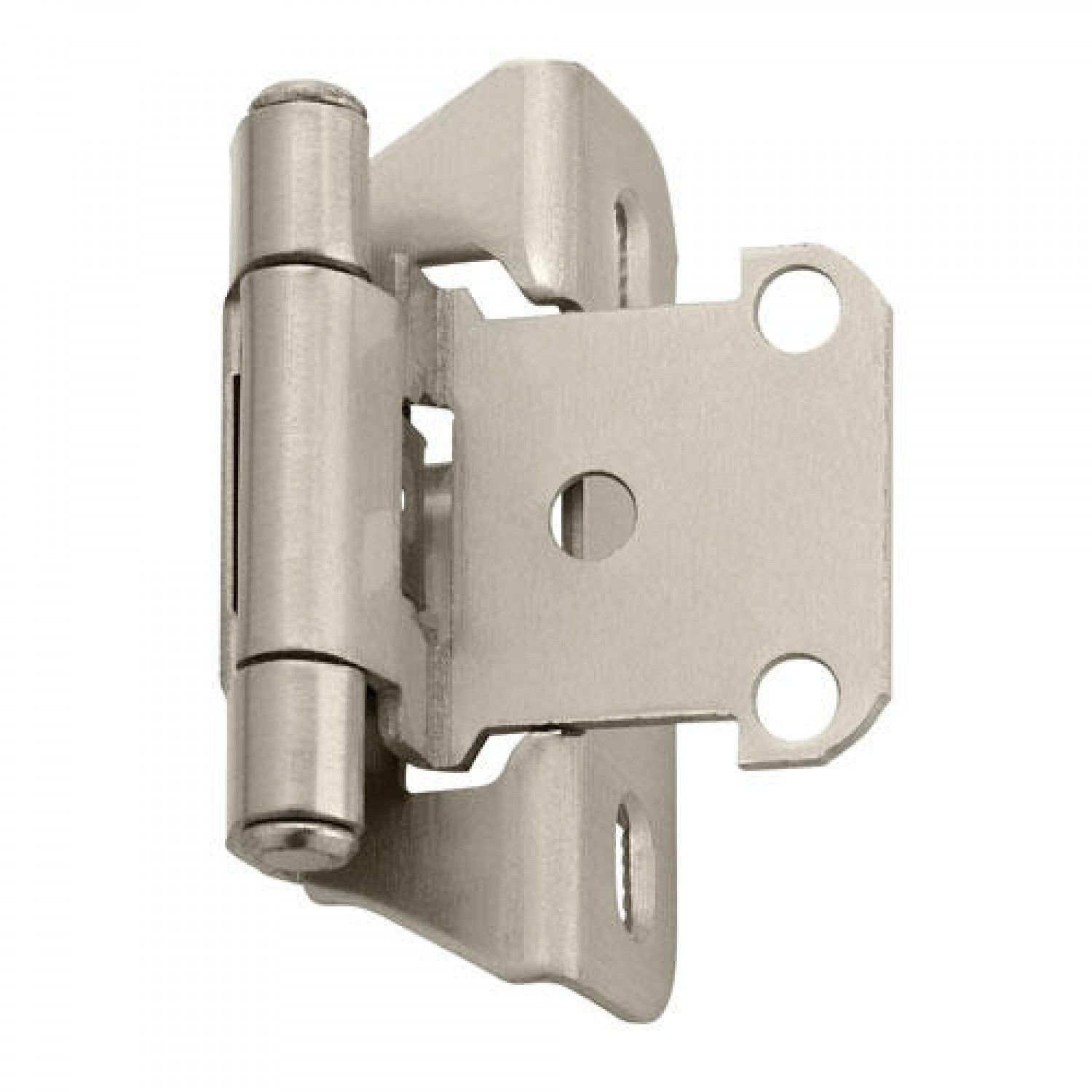 Self Closing Partial Wrap Cabinet Hinge 1 4 Overlay Set Of 2 Overlay Hinges Cabinet Hardware Hinges Amerock