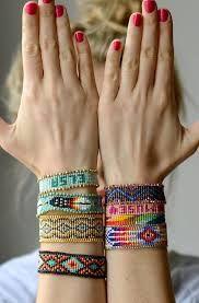 """Résultat de recherche d'images pour """"bracelet perles tissé"""""""