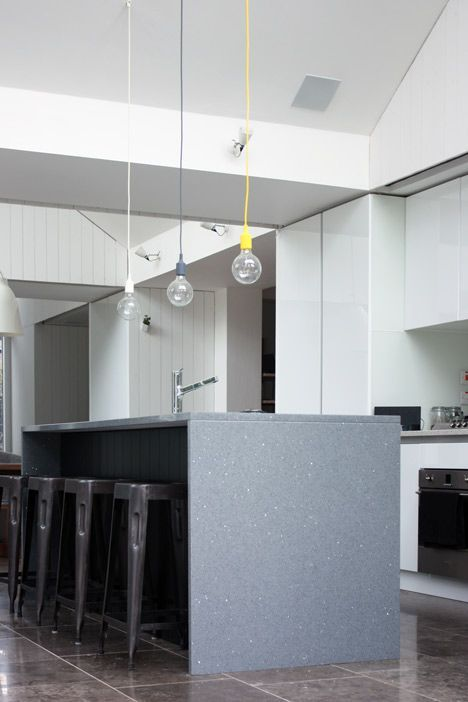 Blee halligans triptych house extension angled to catch sunlight muuto e27 pendant lamp aloadofball Choice Image