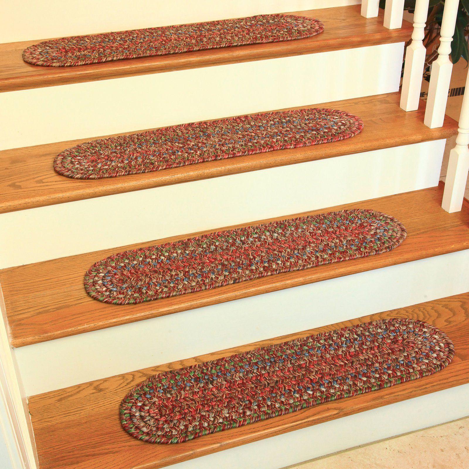 Best Rhody Rug Sierra Stair Tread Red Stair Tread Rugs Stair 400 x 300