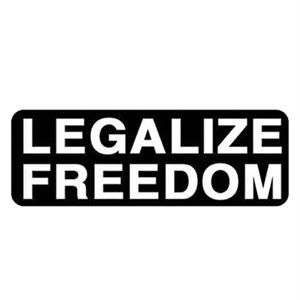 Legalize Freedom Sticker Freedom Stickers Motorcycle Stickers