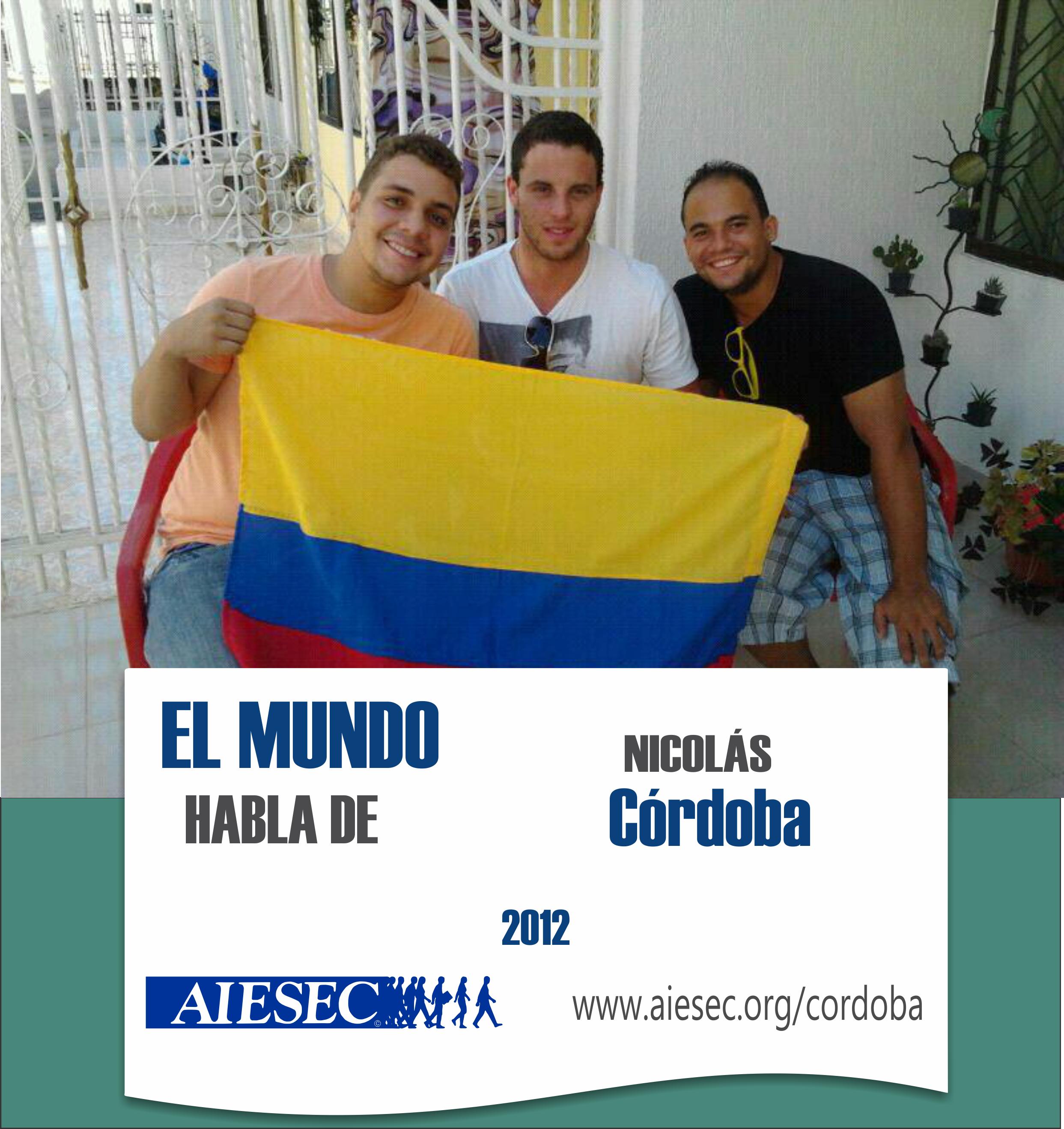 Él es Nico Córdoba y está realizando su primera práctica de nuestro proyecto regional de +IMPACTO. Nico está haciendo su voluntariado en Cartagena, Colombia, en FUNDACION CORONEL JOSE CARMELO VILLAMIZAR. Él va a estar dando clases de inglés a chicos con bajos recursos