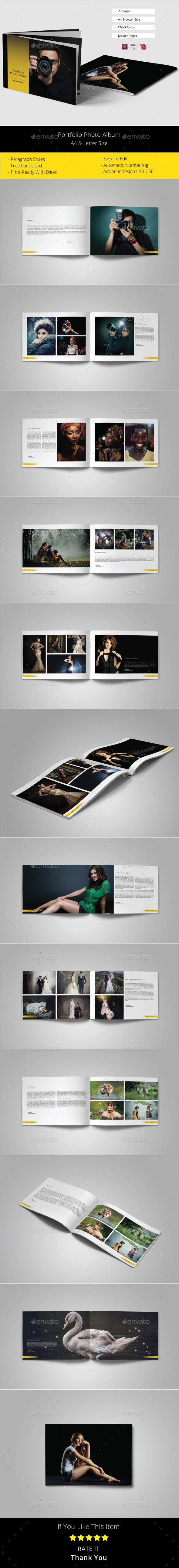 Portfolio Photo Album Template | Photo album printing, Template and ...