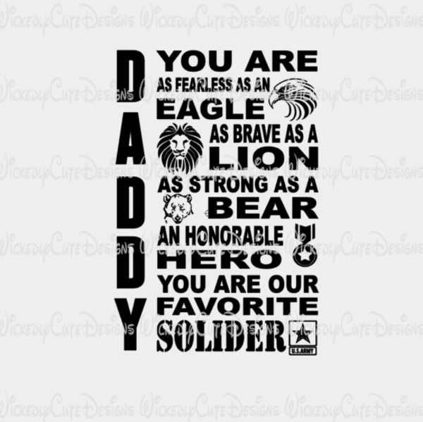 Download ARMY DADDY SVG, DXF, EPS, PNG Digital File - Wickedly Cute ...