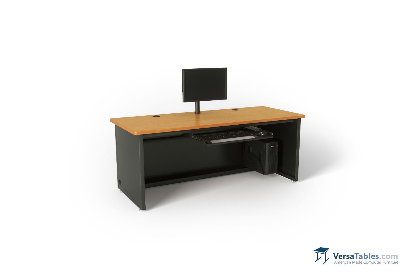 traditional desk size glass reception enclosed front