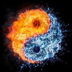 Fire And Water Yin Yang Concept Tao Symbol Guru Yin Yang