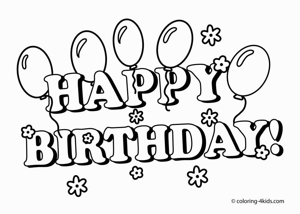 Birthday Coloring Pages | Coloring Pages | Pinterest