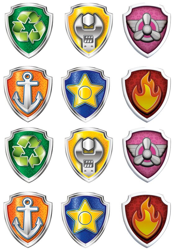 Paw Patrol Badge : patrol, badge, PATROL, BADGES,, Patrol, Label,, Birthday, Party,, Printable,, Топперы…, Badge,, Badge, Printables