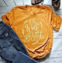 It Is Well With My Soul T-Shirt - Yellow / L