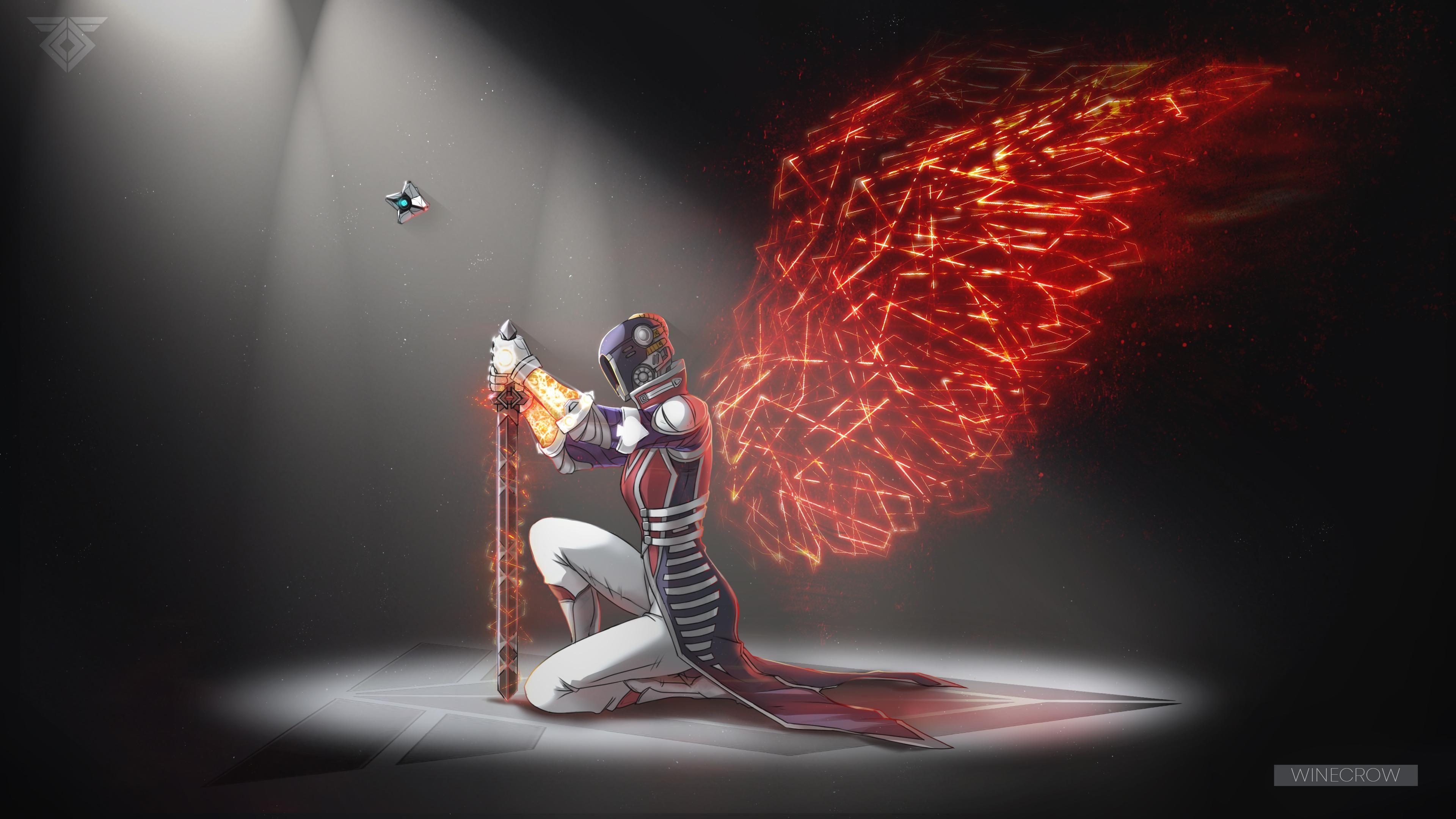 Warmind wings  Destiny 2  Warlock  Ghost  Anastasia Bray