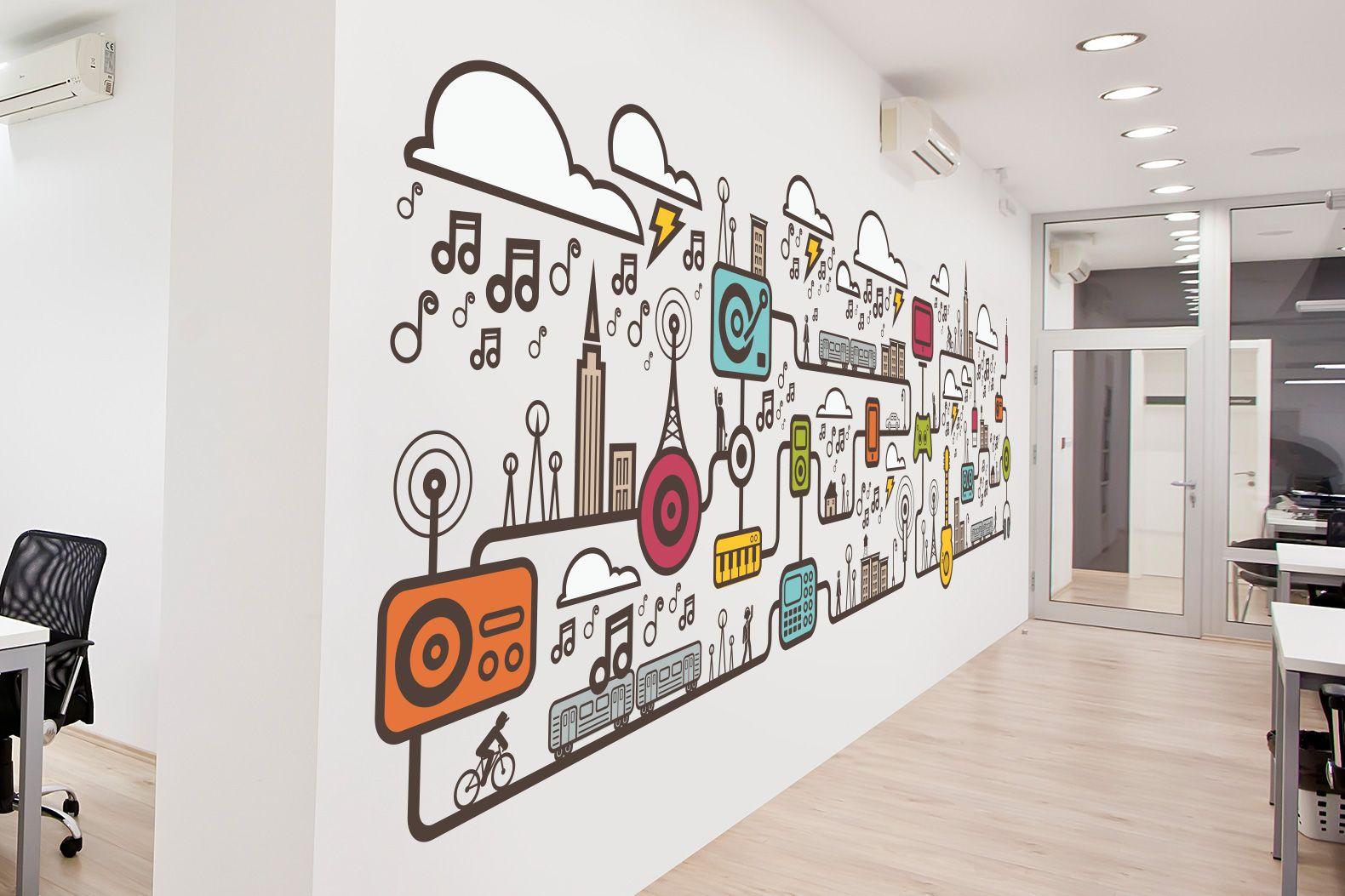 весь рисунок для офиса на стену знаю, как насчет
