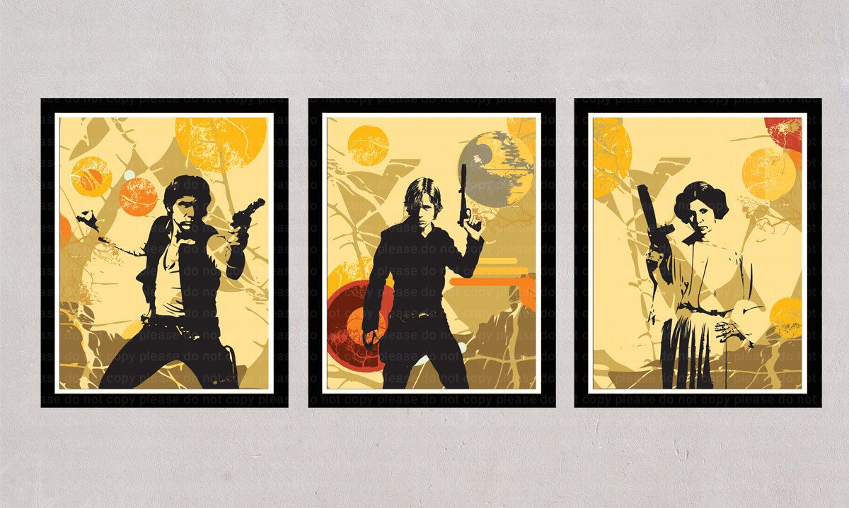 INSTANT DL Star Wars 3 posters wall art printable by PosterJo, $6.00 ...