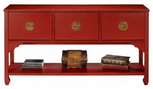 Wuchow Three Drawer File Console   Home Decorators Collection