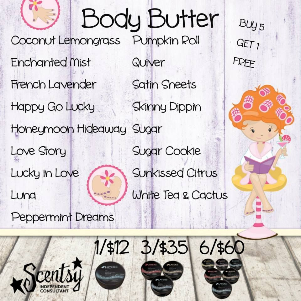 Scentsy Layers Body Butter - Fall/Winter 2014