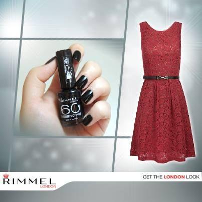 1 segundo para aplicar y 1 minuto para secar es lo que te ofrece el esmalte 60 seconds. Usa el color Black Out para dar un toque dramático a tus manos, perfecto para un vestido invernal.