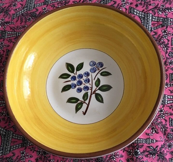 EXCELLENT 10\  BOWL Stangl Pottery \ BLUEBERRY\  Fruit Salad Bowl : stangl dinnerware fruit - pezcame.com