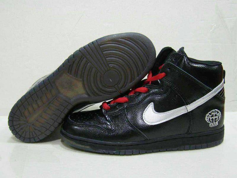 bfa47788f99b8 Nike Dunk High Pharrell Black Silver Red Discount Nike Shoes