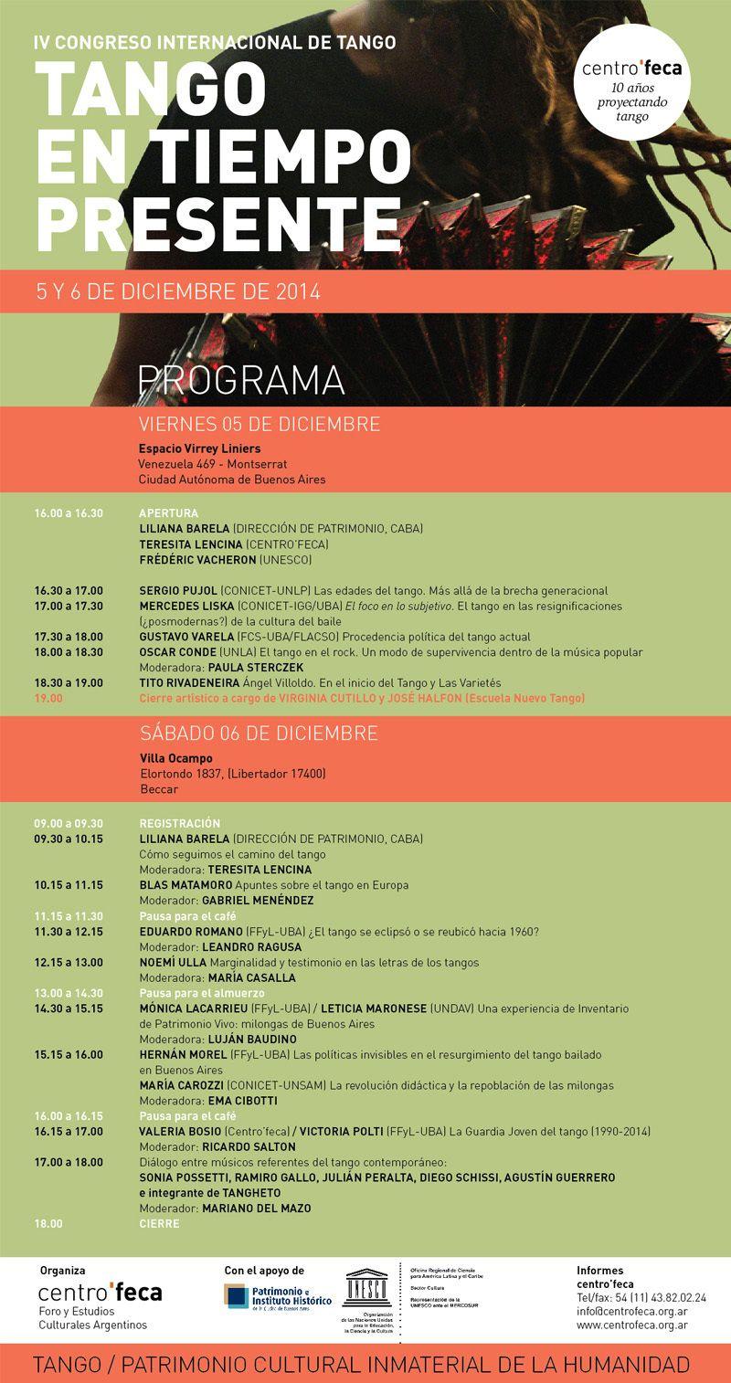 IV Congreso Internacional de Tango