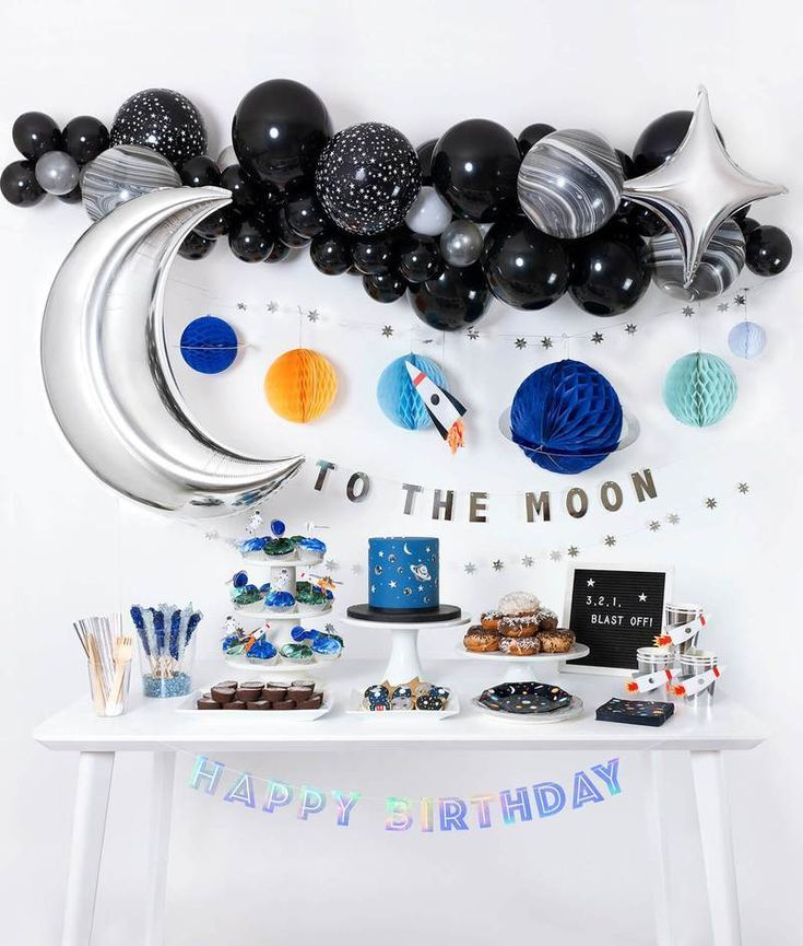Blast Off Boxes Space Theme Party Space Birthday Party Boy Birthday Parties