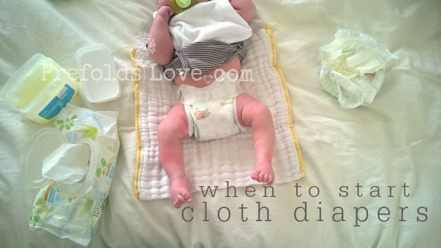 When to Start Using Cloth Diapers on a Newborn